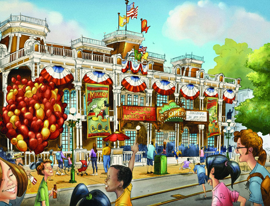 Artist Rendering of Town Square Theater at Magic Kingdom