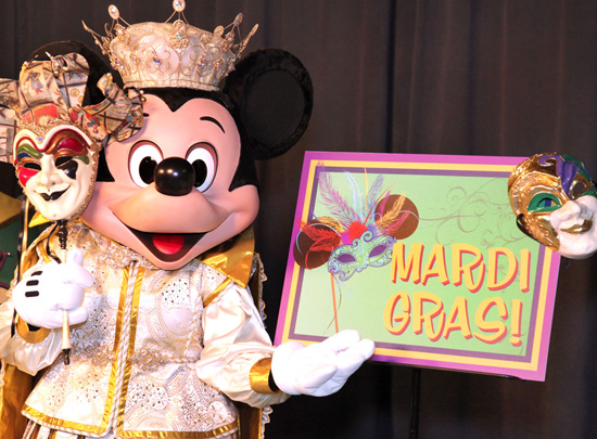 Mardi Gras Mickey at Disneyland Park