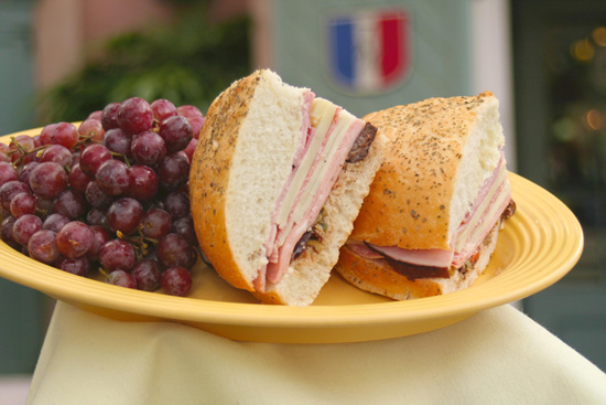 Muffaletta Sandwich From French Market Restaurant at Disneyland Park