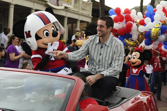 Walt Disney World Parade Celebrates Super Bowl MVP Aaron Rodgers