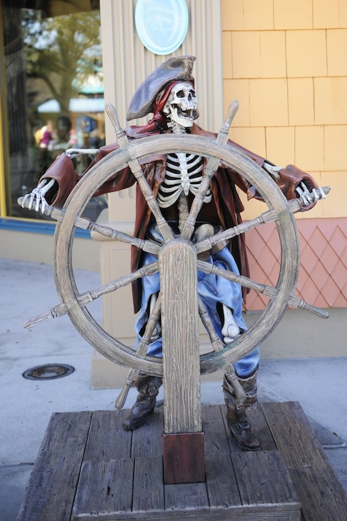 Pirate in Front of the World of Disney Store in Downtown Disney Marketplace