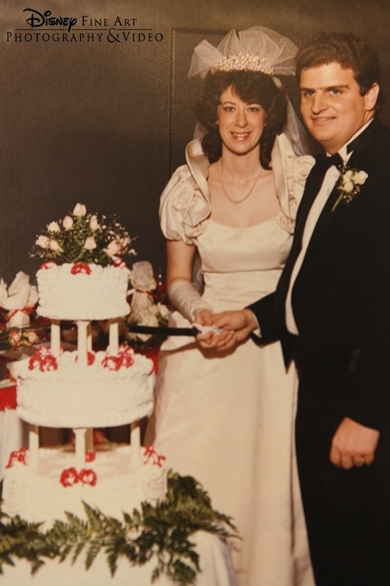 Bob and Maurita's Wedding Day in 1985