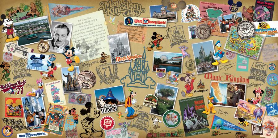 Walt Disney Worlds 40th Anniversary Merchandise Collage