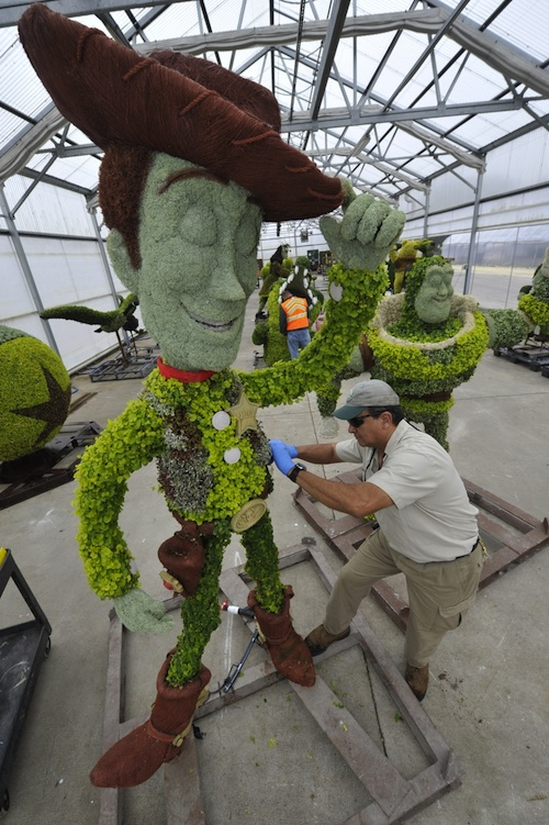 Epcot International Flower & Garden Festival Topiaries Based on Characters from Disney-Pixar Classics
