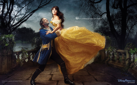 Penelope Cruz and Jeff Bridges in the Final Scene from 'Beauty and the Beast'