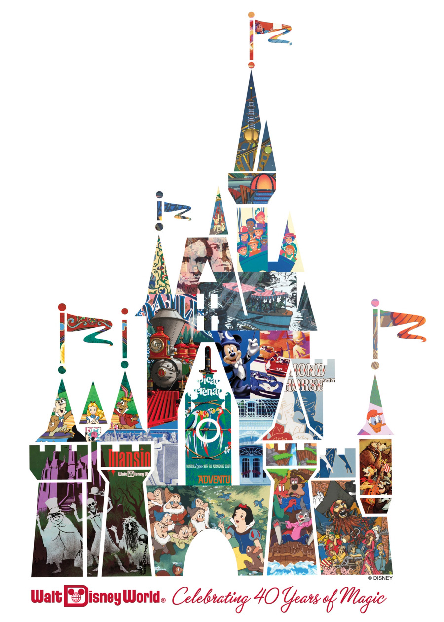 Cinderella Castle Collage: Celebrating 40 Years of Magic at Walt ...