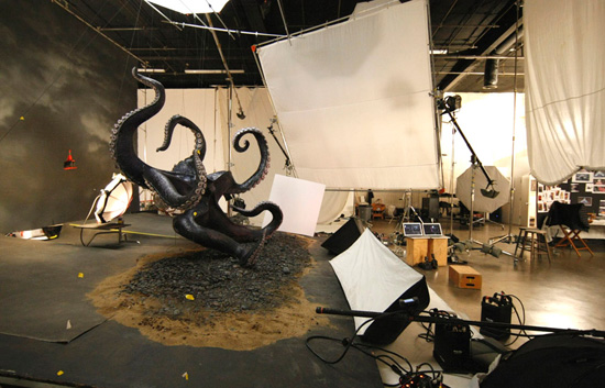 Set for 'The Little Mermaid' Annie Leibovitz Photo Shoot with Queen Latifah as Ursula