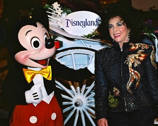 Elizabeth Taylor Celebrated Her 60th Birthday on February 27, 1992 at Disneyland Park