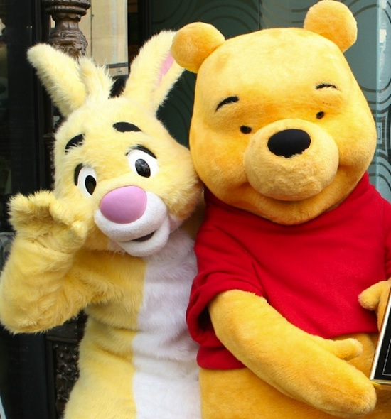 Rabbit and Winnie the Pooh