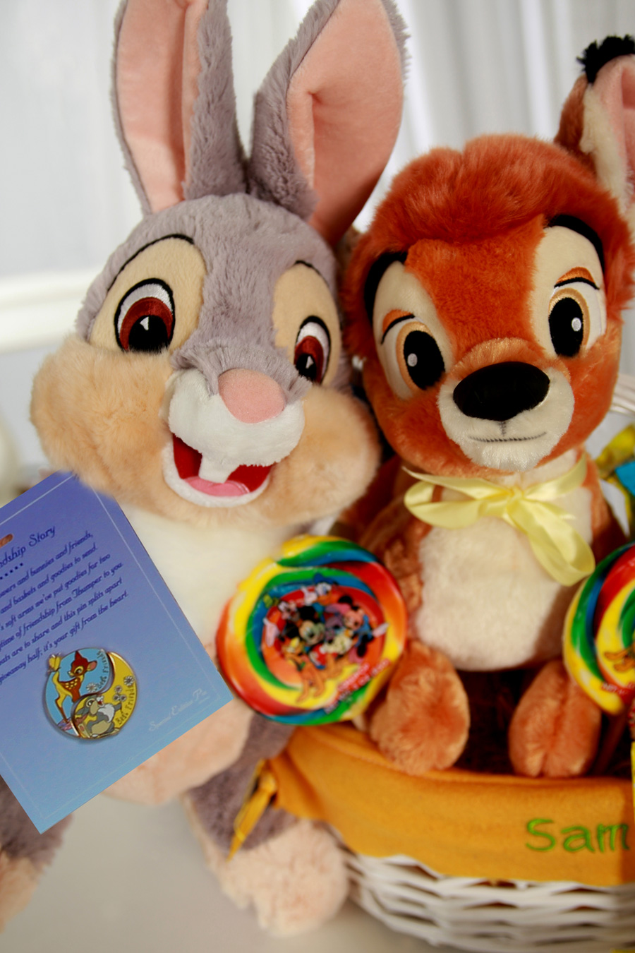 A disney easter basket that teaches sharing and friendship disney bff basket from disney floral gifts featuring thumper and bambi negle Gallery