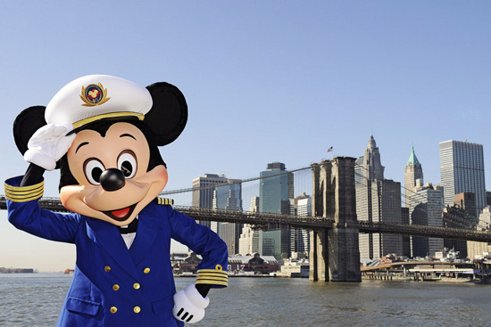 Captain Mickey Mouse visits New York to help announce new Disney Cruise Line itineraries for 2012.