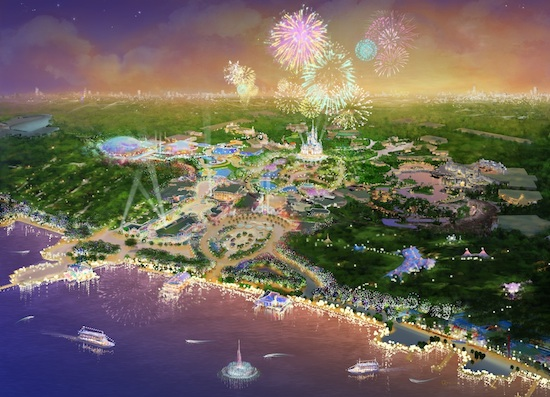 Art Rendering of Shanghai Disney Resort