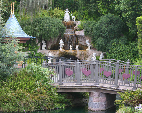 Snow White Grotto at Disneyland Park