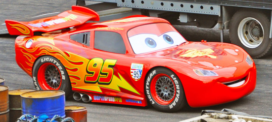 Lightning McQueen Joins the Cast at Lights, Motors, Action! Extreme Stunt Show at Disney's Hollywood Studios