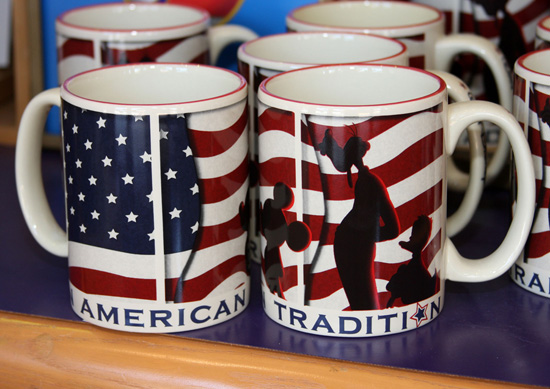 Americana-themed Coffee Mugs from World of Disney at Downtown Disney Marketplace
