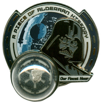 Pin Featuring Darth Vader and the Planet Alderaan