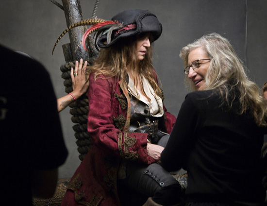 Behind the Scenes with Patti Smith and Annie Leibovitz at a Pirates-inspired Disney Dream Portrait Photoshoot