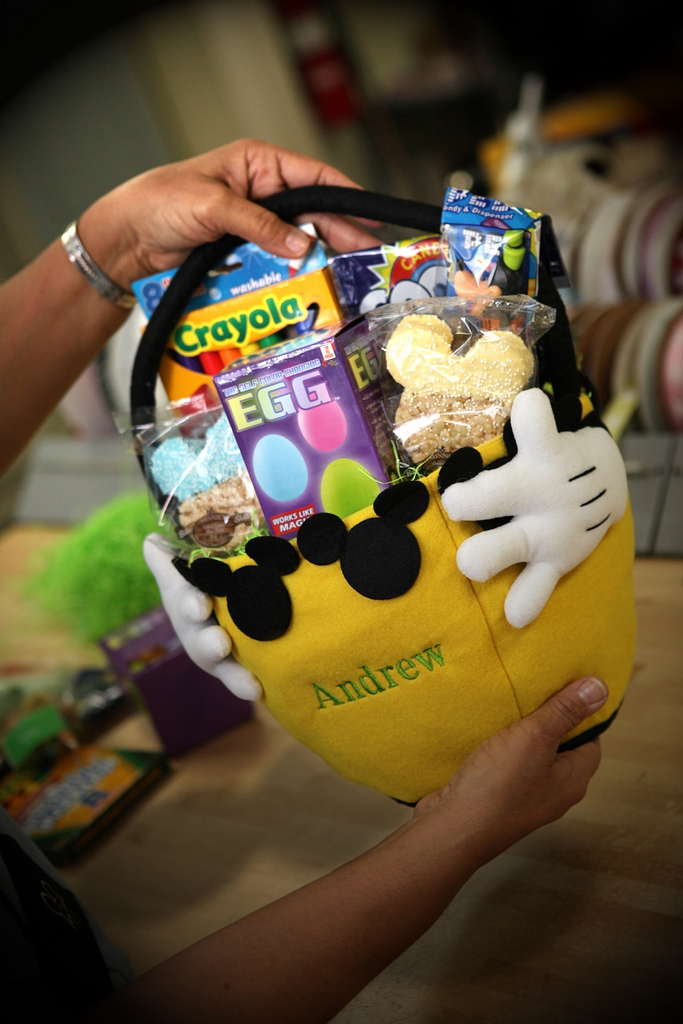Behind the scenes easter at disney floral gifts disney parks blog yellow easter basket negle Choice Image