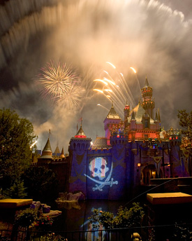 Fireworks at Disneyland Park
