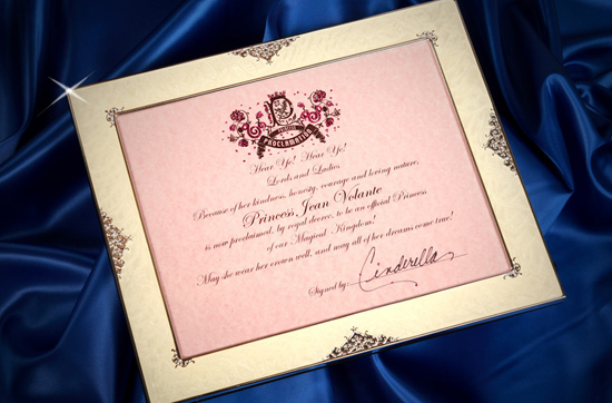 Personalized Princess Proclamation