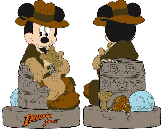 Indiana Jones-Themed Mickey Mouse Bank from Disney Parks Merchandise