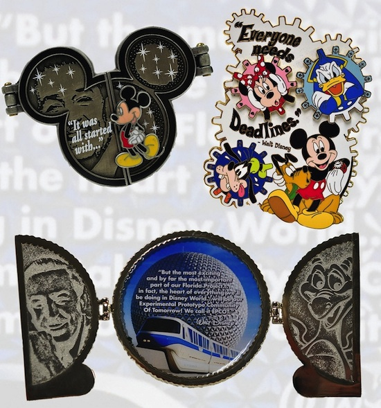 Pins Featuring Walt Disney Quotes