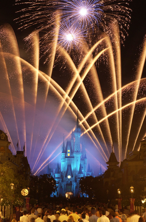 Wishes Nighttime Spectacular Fireworks Show at Magic Kingdom Park