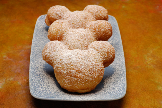 Mickey-shaped Beignets at Disneyland Park