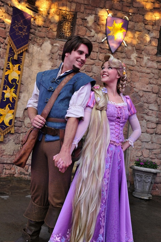 Princess Rapunzel and Her Prince Flynn Rider
