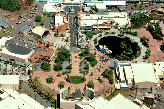 Aerial View of Disney's Hollywood Studios in March 1989
