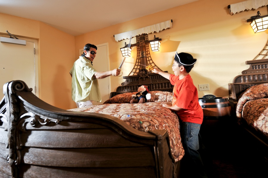 Pirate-Themed Guest Room at Disney's Caribbean Beach Resort