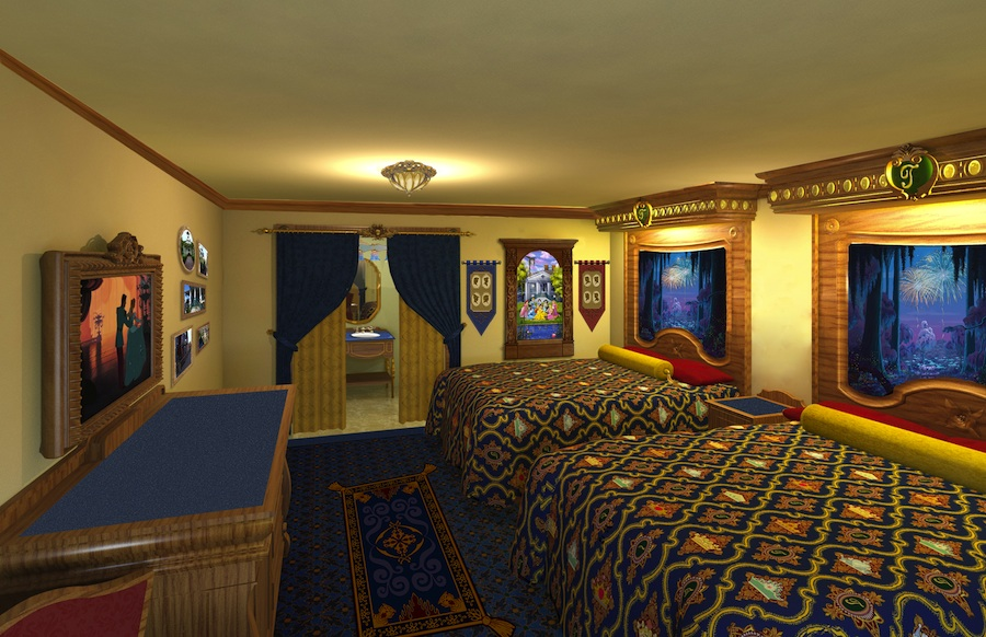 Royal Guest Room at Disney s Port Orleans Resort. Specialty Rooms Will Give Guests The Royal Treatment   Disney