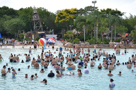 Guests at Typhoon Lagoon Participate in the Second-Annual World's Largest Swimming Lesson