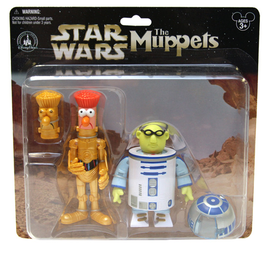 The Muppets' Beaker as C-3PO and Dr. Bunsen Honeydew as R2-D2 Star Wars Figures for Disney Parks