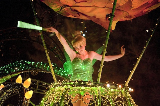 Tinker Bell in the Main Street Electrical Parade
