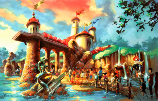 Rendering of Under the Sea - Journey of the Little Mermaid Attraction