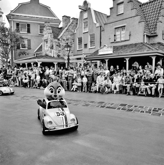 Liberty Square at Magic Kingdom Park During the 1971 Christmas Parade