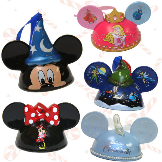Character Ear Hat Ornaments from Disney Parks Merchandise