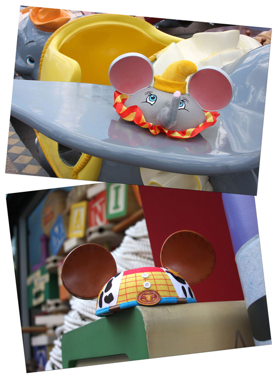 Dumbo and Woody Ear Hats from Disney Parks