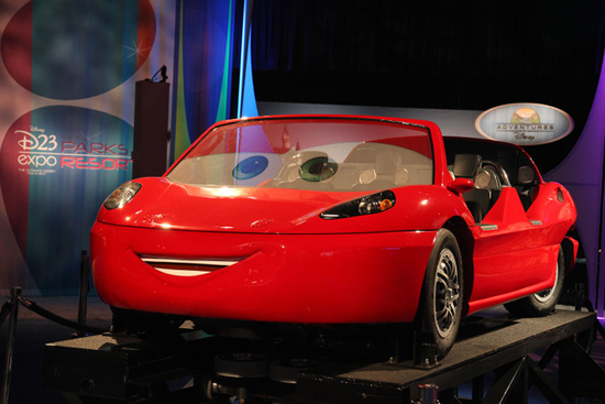 Radiator Springs Ride Vehicle at the 2011 D23 Expo