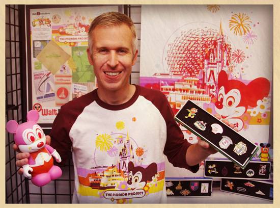 Disney Parks Blog Author Steven Miller with The Florida Project Vinylmation and Disney Pins