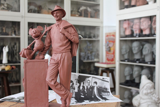 Maquette of New Walt Disney and Mickey Mouse Statue to be Featured on Buena Vista Street at Disney California Adventure Park