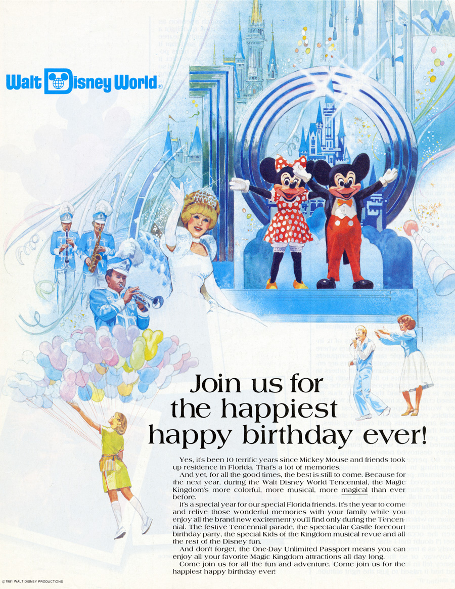 Vintage Walt Disney World The Tencennial Celebration Disney Parks