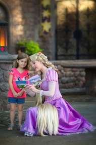 Ava Meets Rapunzel at Magic Kingdom Park