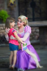 Ava Meets Rapunzel at Magic Kingdom Park