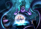Inside the attraction, Ursula the sea witch bubbles up some trouble.
