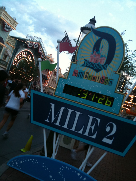 Mile 2 of the Disneyland Half Marathon