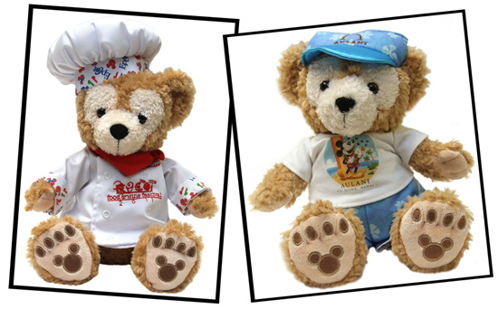 Duffy The Disney Bear in Epcot International Food & Wine Festival Chef and Aulani Costumes
