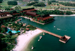 Disney's Polynesian Resort opened with 492 rooms in eight longhouses, and later expanded.
