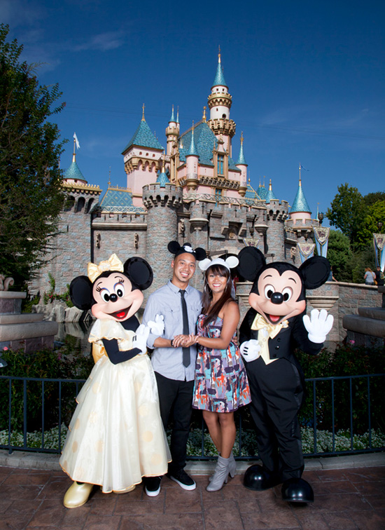 Jamin and Valerie at Disneyland Park
